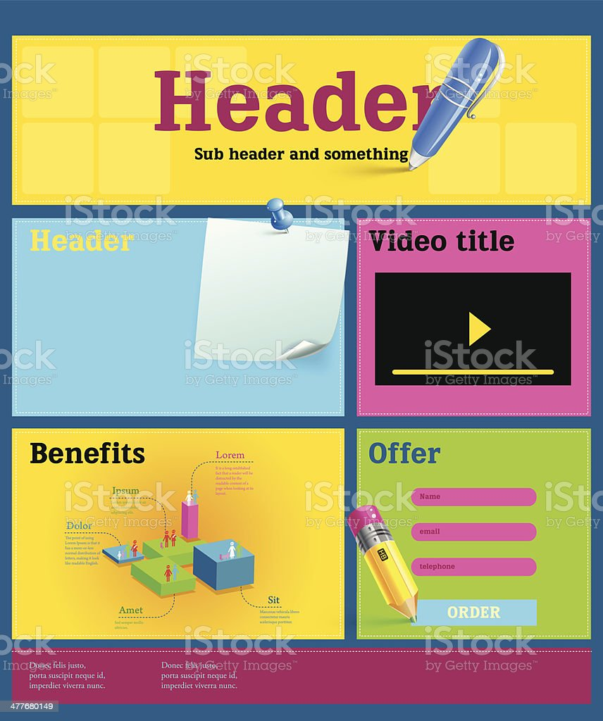 Web page template royalty-free stock vector art