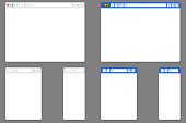 Browser mockups. Website for different devices in vector