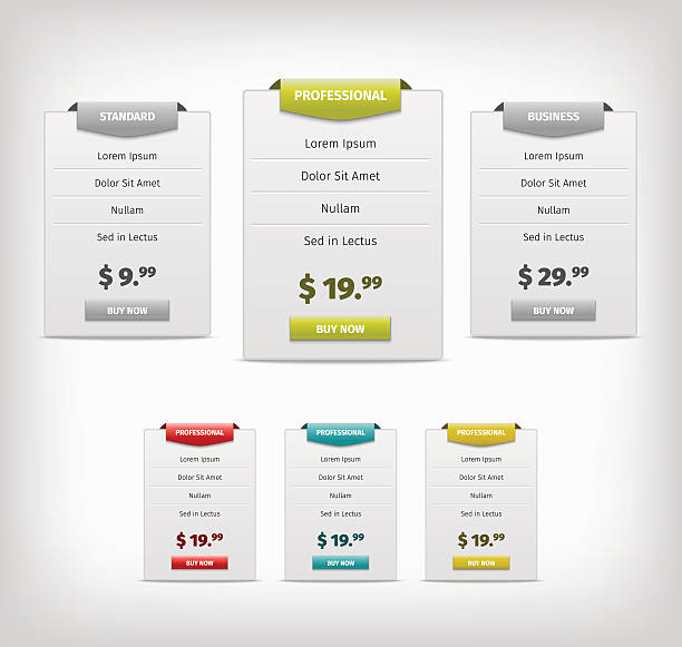 web plan banners - pricing infographics stock illustrations, clip art, cartoons, & icons