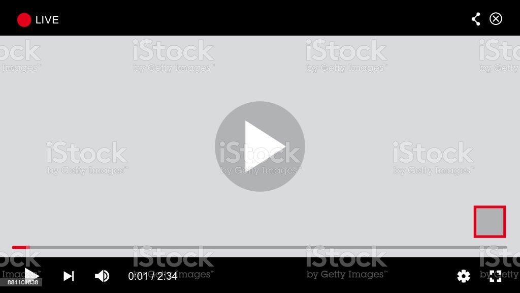Site Web Player - vecteur - clipart vectoriel de Application mobile libre de droits