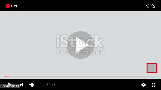 istock Web Player - Vector 884101838
