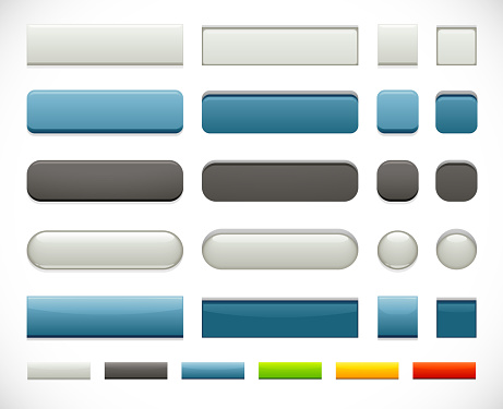 A set of five push button themes perfect for adding depth to your site design! Rollover pressed state included. White, black, blue, green, yellow & red versions included. Made from global swatches, smartly grouped on layers - see my portfolio for more!