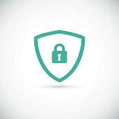 Web security icon shield.