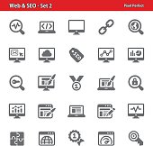 Professional, pixel perfect icons depicting various internet and SEO concepts.