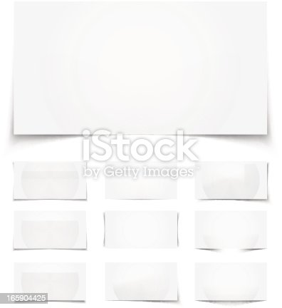 Set of 10 blank vector realistic shadows on white background. Easy to use and customize with white background. Illustration with transparency in EPS'10 for your web sites, web flyers, web banners, web content boxes, web slider, web container, print or presentation.