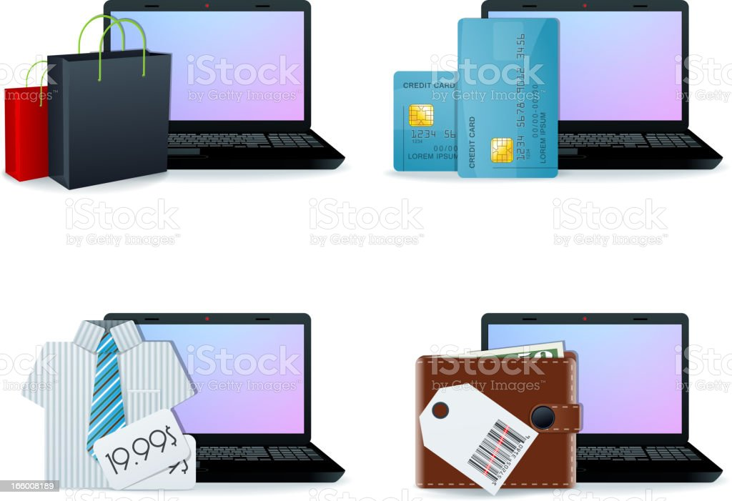 Web shopping royalty-free web shopping stock vector art & more images of bag