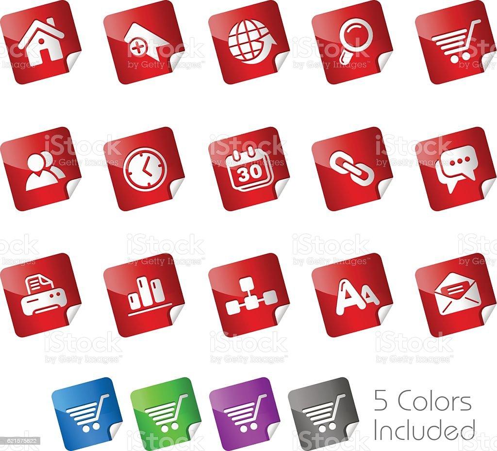 Web Site & Internet Icons // Stickers Series web site internet icons stickers series – cliparts vectoriels et plus d'images de affaires libre de droits