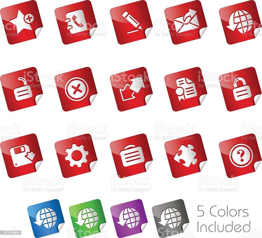 Web Site & Internet Plus // Stickers Series web site internet plus stickers series – cliparts vectoriels et plus d'images de affaires libre de droits