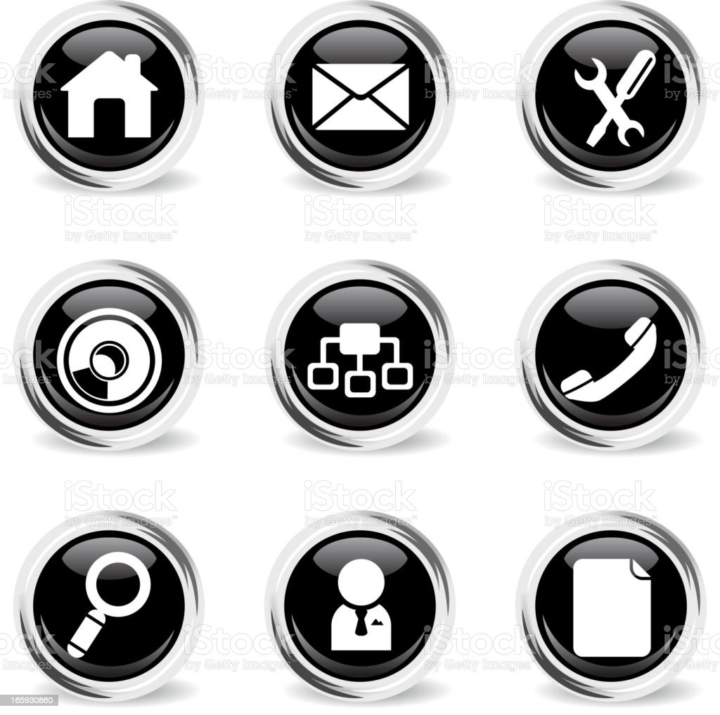 web site vector icon set royalty-free stock vector art