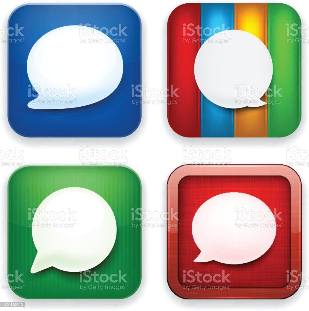 Web speech bubble app icons. royalty-free stock vector art