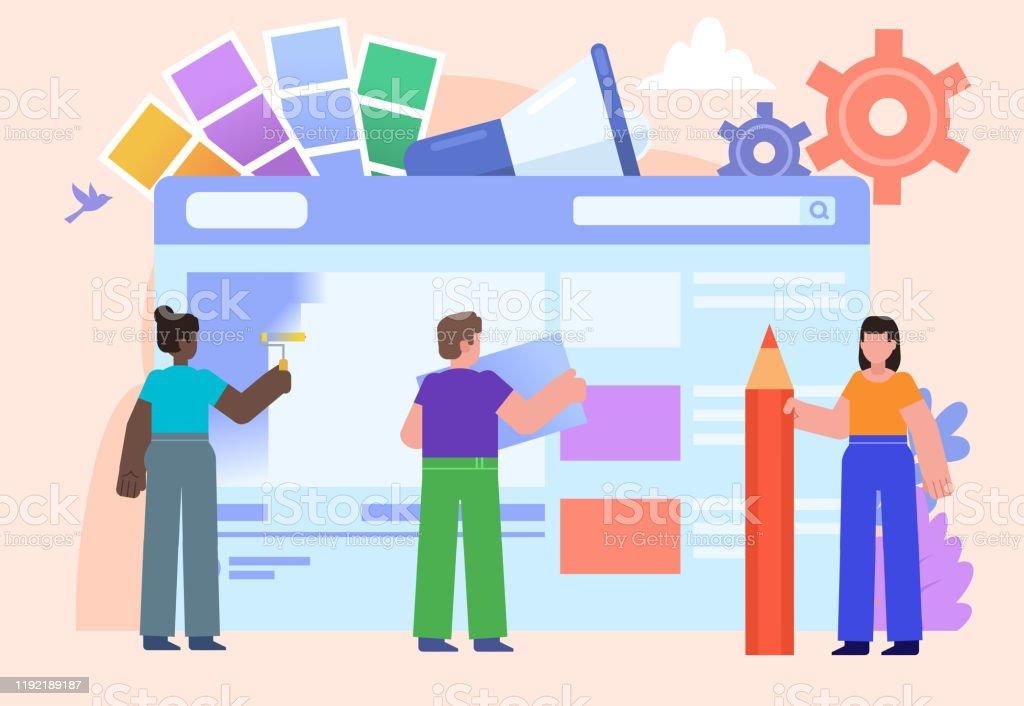 Poster for social media, banner, web page, presentation. Flat design...