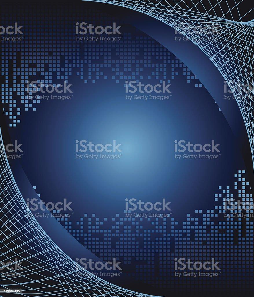 Web surrounding digital world blue background royalty-free stock vector art