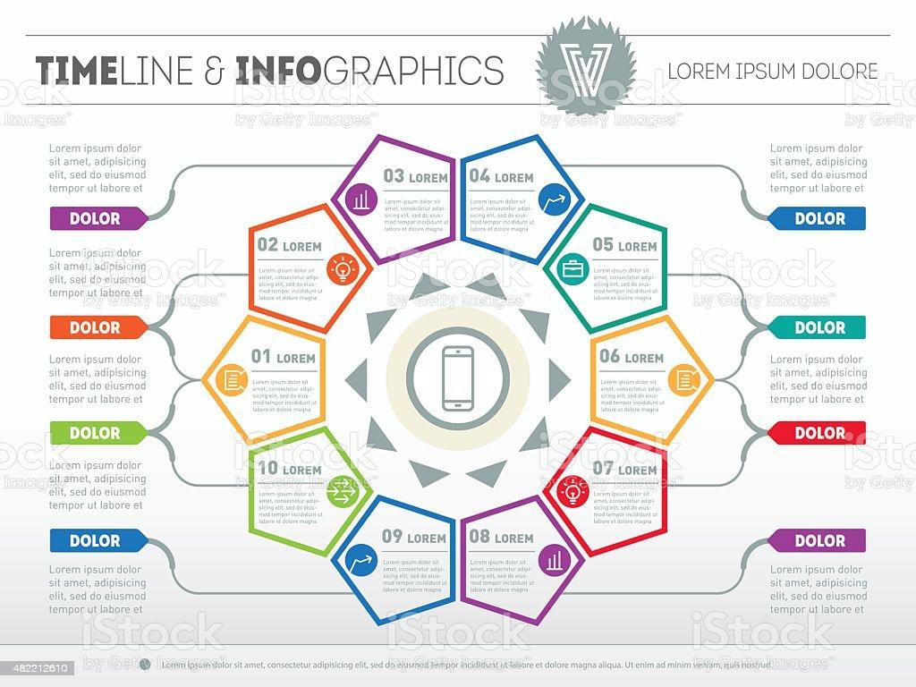 Web Template for circle diagram or presentation. vector art illustration