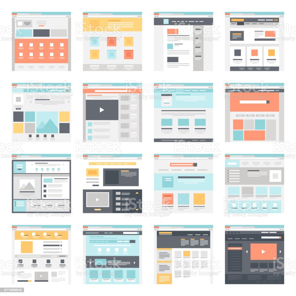 Web template vector art illustration