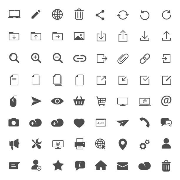 web vector icons - strona startowa stock illustrations