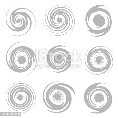 Grey Tornado isolated on white background. Vector illustration eps 10.
