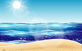 landscape of sunlight at the beach