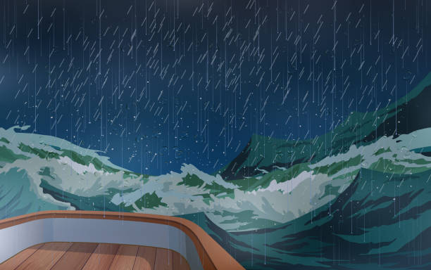 Web The ship was in the middle of a storm in the sea. storm stock illustrations