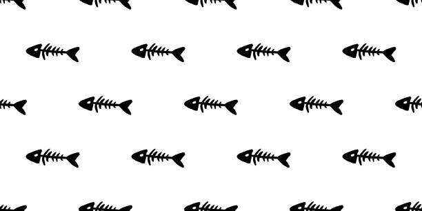 web - 魚の骨点のイラスト素材/クリップアート素材/マンガ素材/アイコン素材