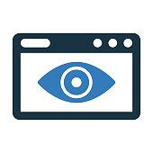 istock Web Visibility icon / vector graphics 1257957965