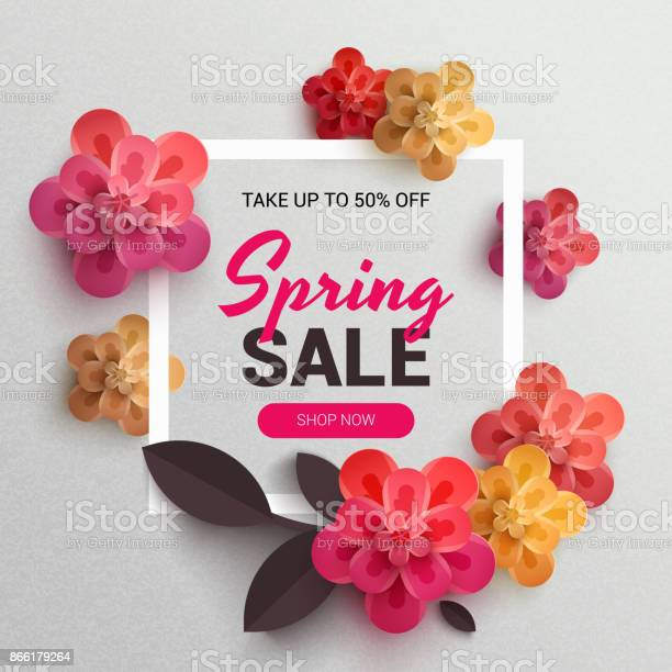 Web wanner with red paper flowers for spring sales vector id866179264?b=1&k=6&m=866179264&s=612x612&h=fpa4dveywijmcvrkmytuo 4ivrjv gfzuma5a9ykfwa=