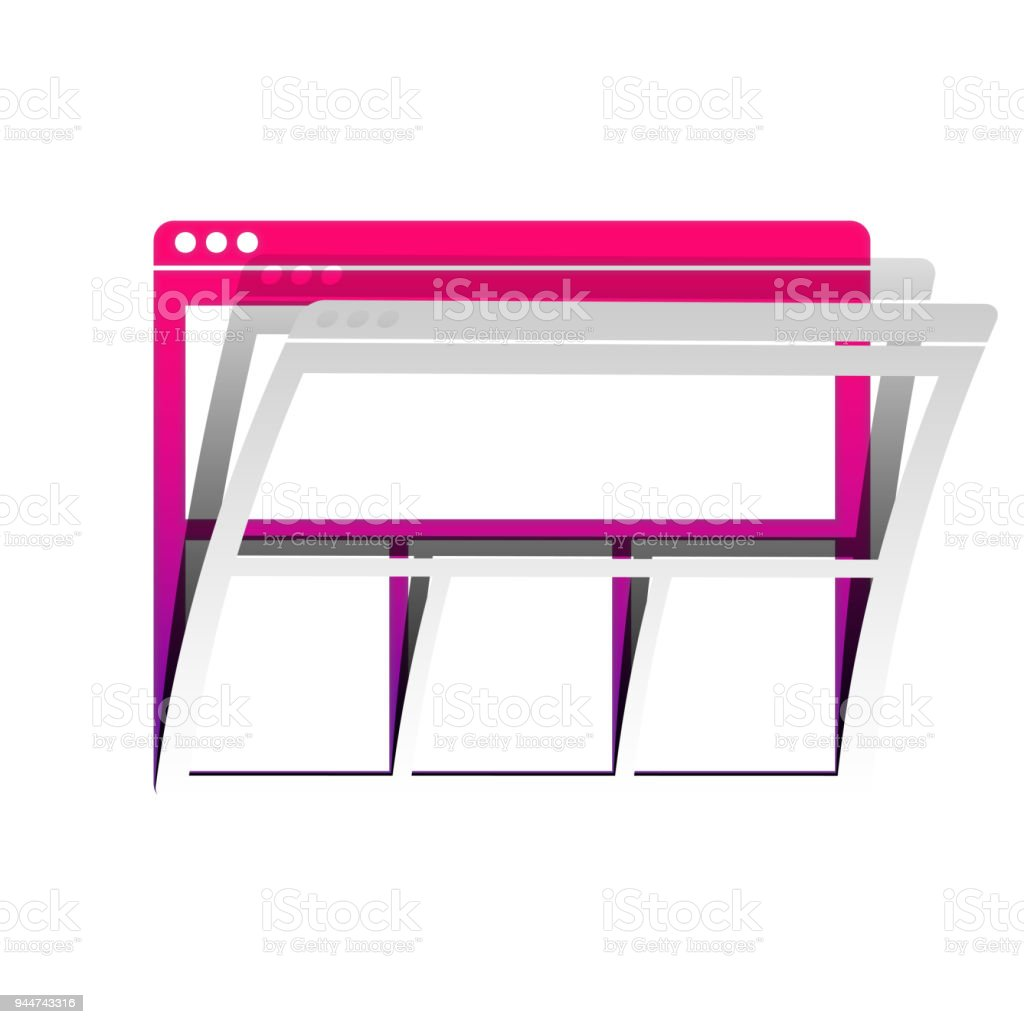 Web window sign. Vector. Detachable paper with shadow at underly vector art illustration