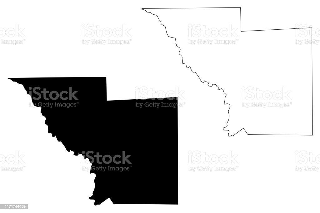 Webb County Texas Map Vector Illustration Scribble Sketch ...