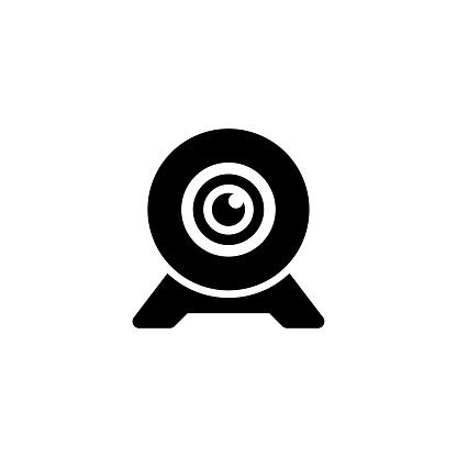 Webcam, Digital Web Camera Flat Vector Icon
