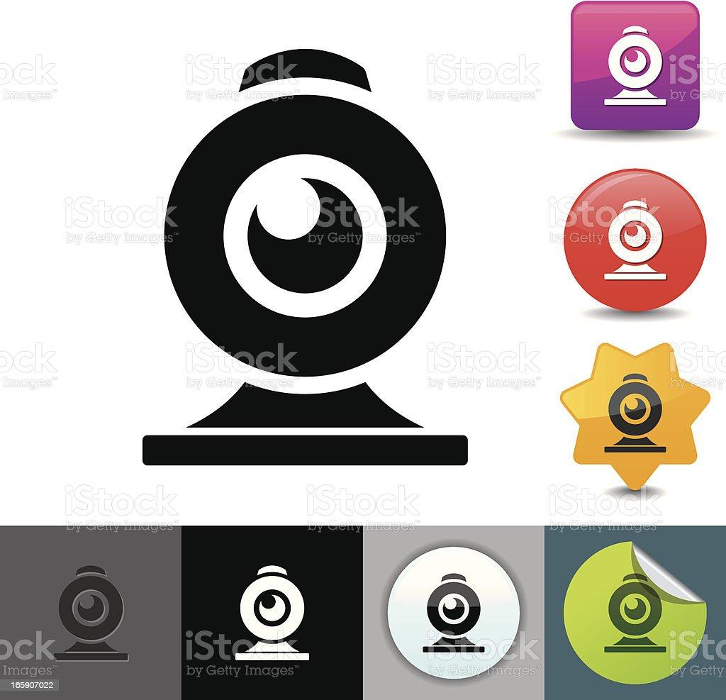 Webcam icon   solicosi series vector art illustration