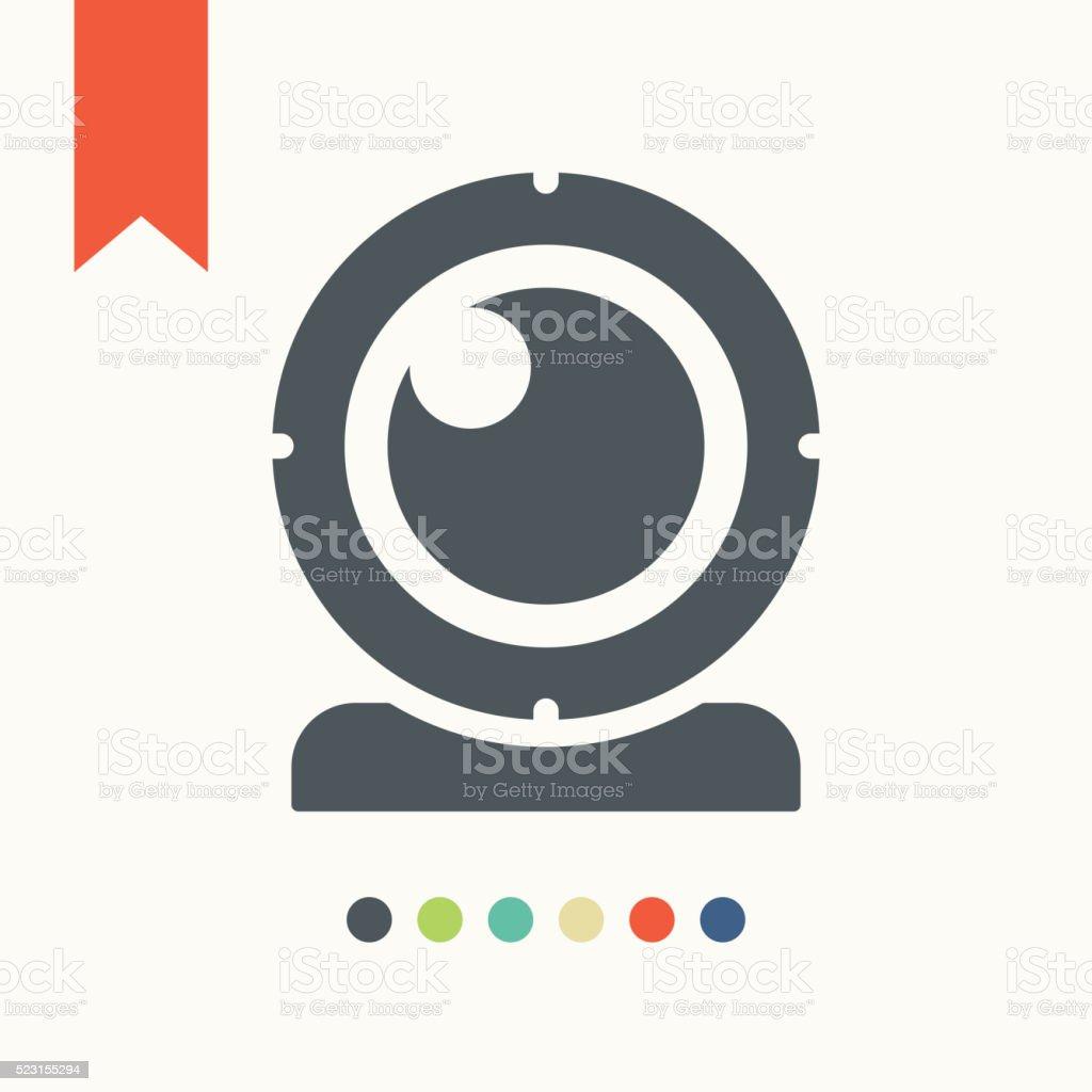 Webcam icon vector art illustration