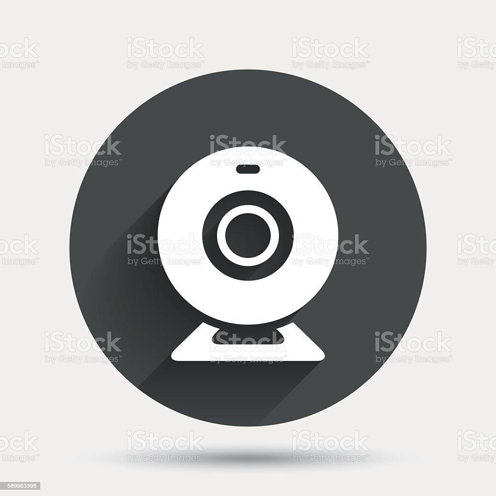 Webcam sign icon. Web video chat symbol. vector art illustration