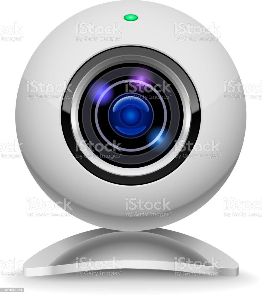 Webcam vector art illustration