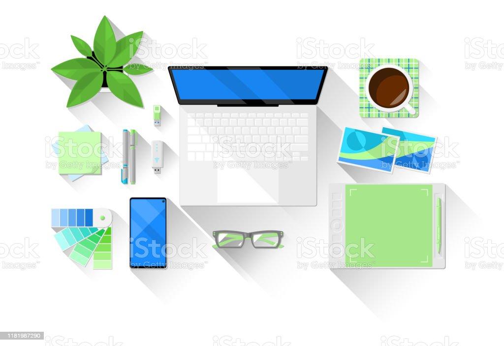 Webdesignerworkplacevector Stock Illustration Download Image Now Istock