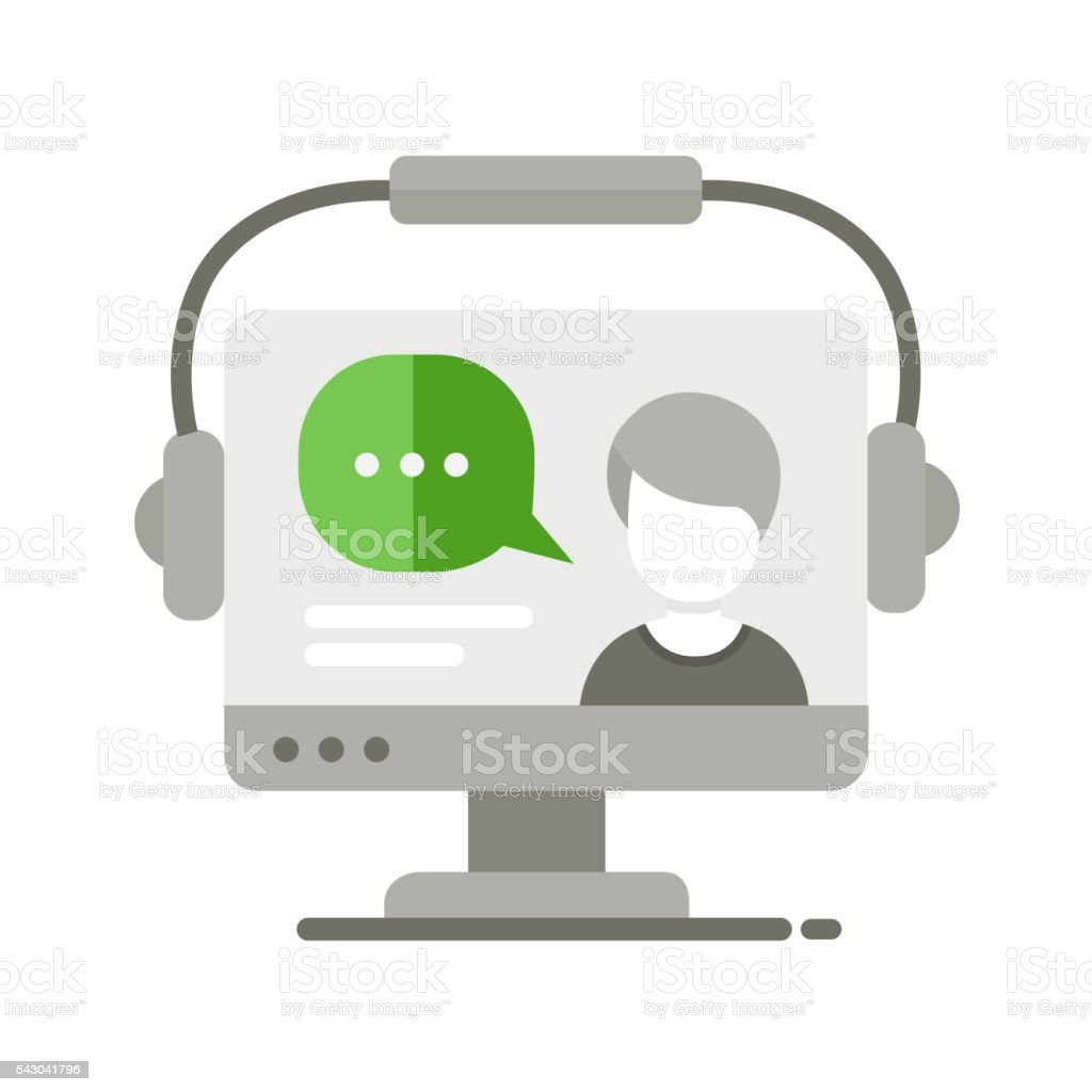 Webinar Flat Design Single Icon Stock Illustration ...