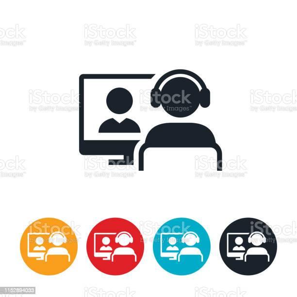 Webinar Icon Stock Vektor Art und mehr Bilder von Bildung
