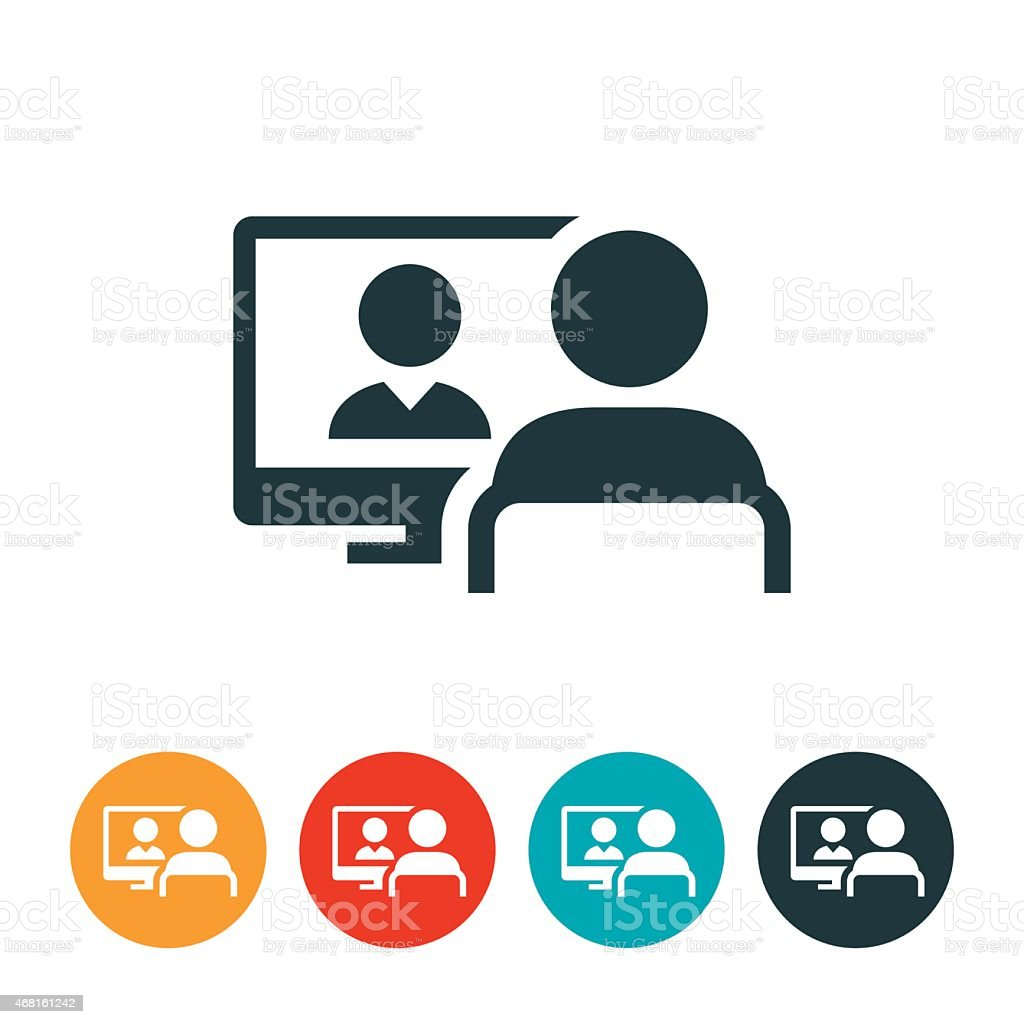 Webinar Icon vector art illustration