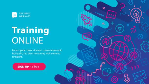 Webinar Online Banner – Vektorgrafik