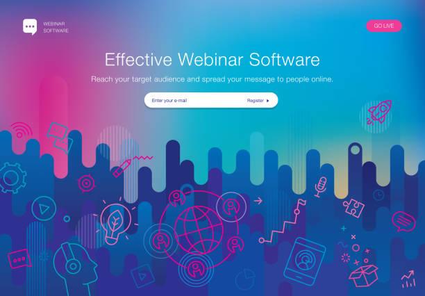 Webinar Software Website-Vorlage – Vektorgrafik