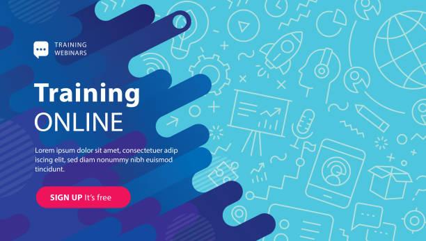 Webinar Training Online-Banner – Vektorgrafik