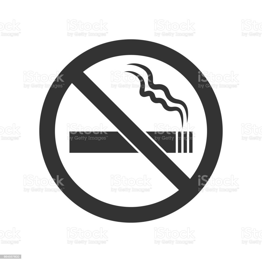 Webno Smoking Sign No Smoke Icon Stop Smoking Symbol Vector