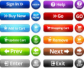 Webpage Navigation Internet Buttons vector set