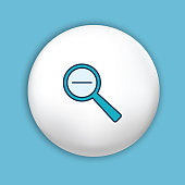 istock Webpage User Interface Icon In Thin Line Style - Magnifying Glass 1199311709
