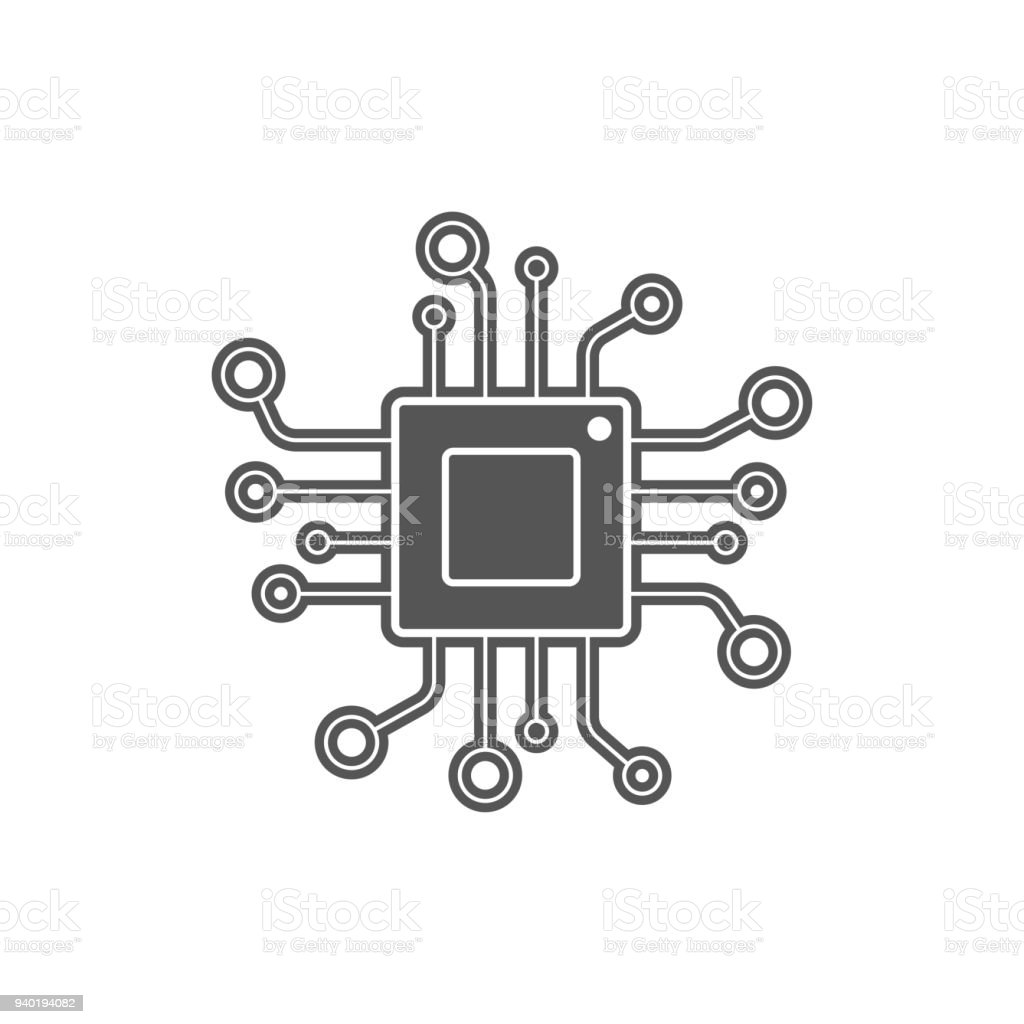 WebProcessor vector icon for websites and mobile minimalistic flat design. Mini CPU Icon Flat Style. Mobile CPU Vector. Phone CPU Illustration. Basic CPU vector art illustration