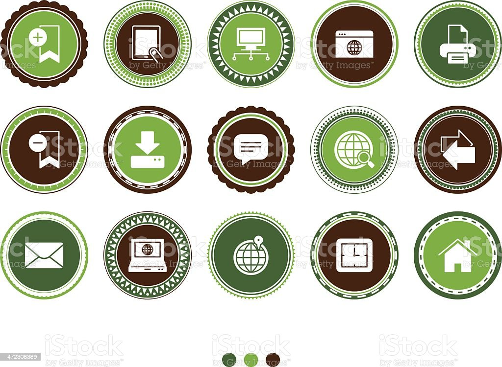 website and computer icons royalty-free stock vector art