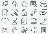 Website and Homepage Line Icons