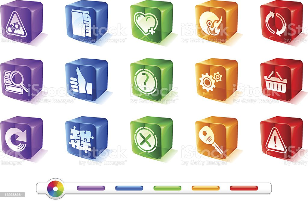 Website and Internet 4 | GlassCubes Icons royalty-free stock vector art