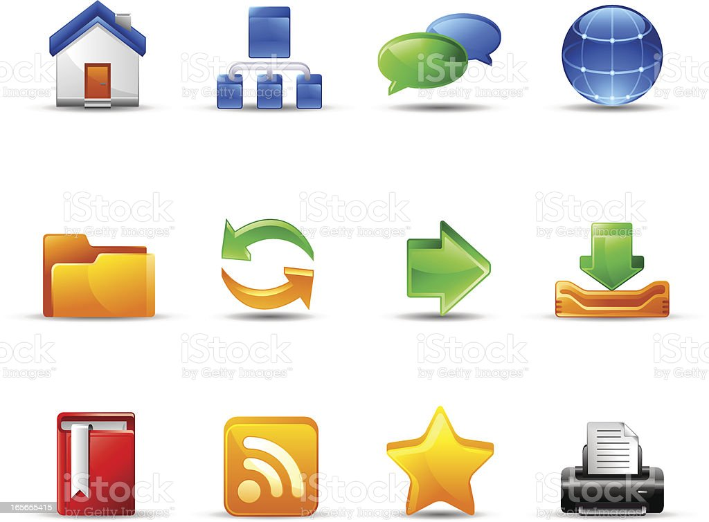 Website and Internet : Dream Icons royalty-free stock vector art