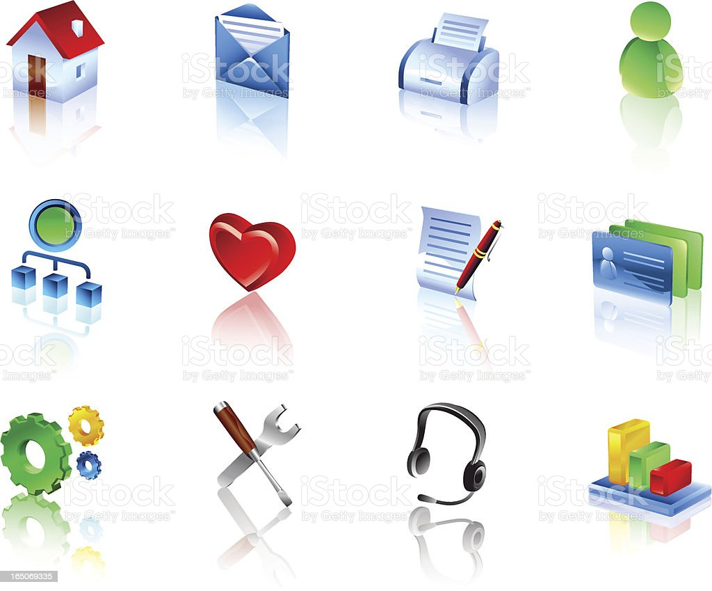 Website and Internet Icons 1 | color3d royalty-free stock vector art