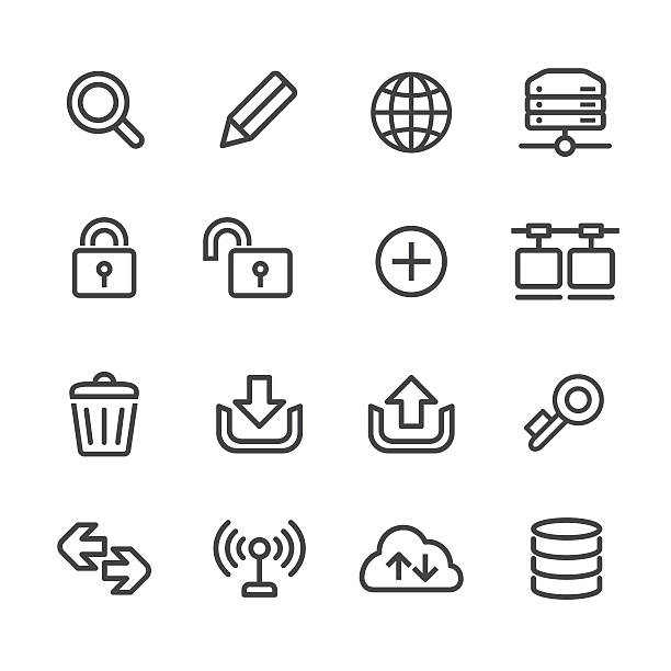 Website and Internet Icons Set - Line Series View All: low scale magnification stock illustrations