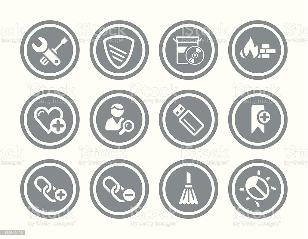 Website, and Internet Security Icon Set royalty-free stock vector art
